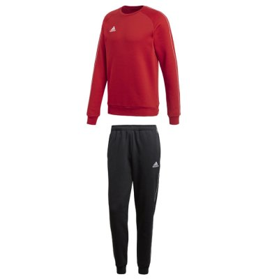 adidas Core 18 Jogginganzug a- power red/white a- Gr. 2xl (Farbe: rot  )