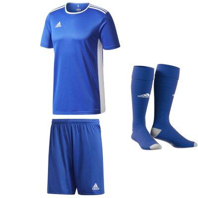 Adidas Entrada 18 Trikot bold blue weiß