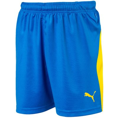Puma Liga Short - electric blue lemonade-yello - Gr. l (Farbe: blau weiß )