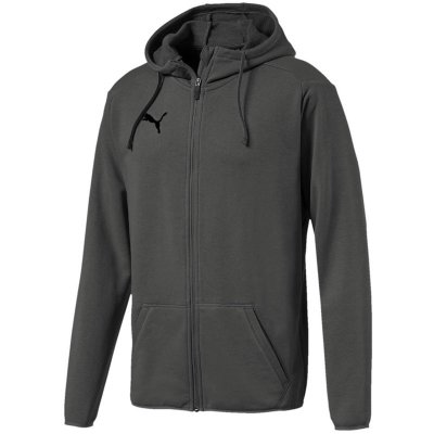 Puma Liga Casuals Hoody Jacke - medium gray heather-puma black - Gr. 176 (Farbe: 128 grau )
