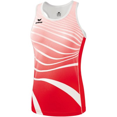Erima Athletic Singlet - red/white - Gr. 34 (Farbe: rot S )