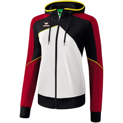 Erima Premium One 2.0 Trainingsjacke Mit Kapuze - white/black/red - Gr. 42 im Sport Shop