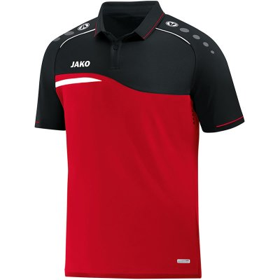 Jako Competition 2.0 Polo - rot/schwarz - Gr.  l im Sport Shop