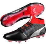 Puma One 18.1 FG Leder black/red im Sport Shop