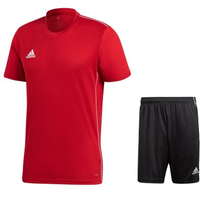 adidas Core 18 Set - power red/white - Gr. 2xl (Farbe: rot  )