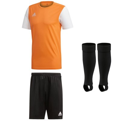 adidas Estro 19 Kinder Trikotsatz - solar orange - black - black - Gr. kurzarm | 164 - 164 - 2 (Farbe: orange  )