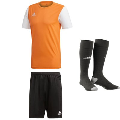 adidas Estro 19 Trikotsatz - solar orange - black - black - Gr. kurzarm | s - s - 4 (Farbe: orange  )