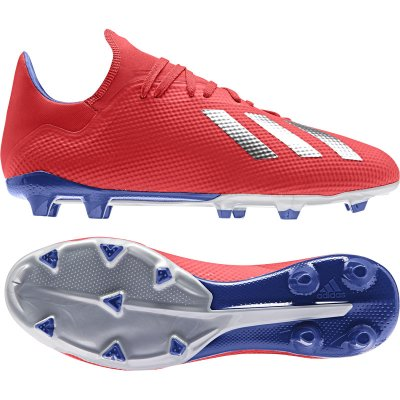 adidas Predator 18.3 FG Fußballschuhe weiß rot, Größe:39 13 =UK 6