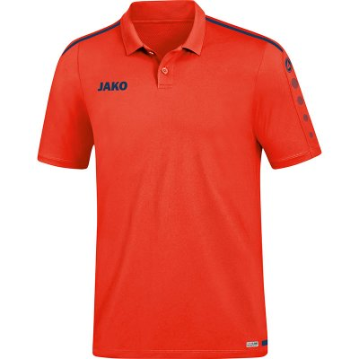 Jako Striker 2.0 Polo - flame/navy - Gr.  m (Farbe: rot  )