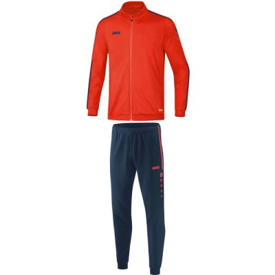 Jako Striker 2.0 Trainingsanzug Polyester - flame/navy - Gr.  128 (Farbe: rot  )