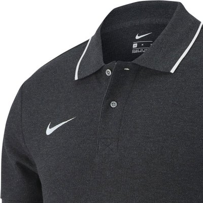 Nike Club 19 Polo - charcoal heathr/whit - Gr.  kinder-l