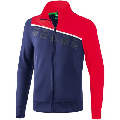 Erima 5-C Polyesterjacke - new navy/red/white - Gr. XXL (Farbe: rot L )