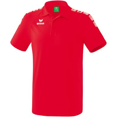 Erima Essential 5-C Poloshirt - red/white - Gr. 164 (Farbe: rot  )