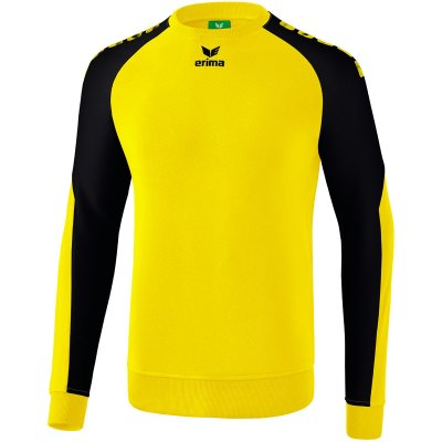 Erima Essential 5-C Sweatshirt - yellow/black - Gr. L (Farbe: rot L )