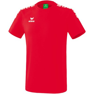 Erima Essential 5-C T-Shirt - red/white - Gr. 116 (Farbe: rot  )