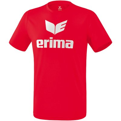 Erima Promo T-Shirt - red/white - Gr. 116 (Farbe: rot  )