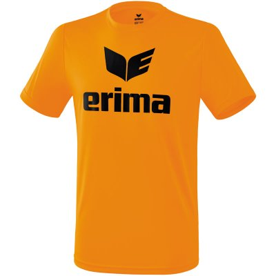 Erima Promo T-Shirt - orange/black - Gr. L (Farbe: orange  )