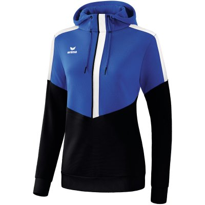 Erima Squad Kapuzensweat - new royal/black/white - Gr. 40 (Farbe: blau S )