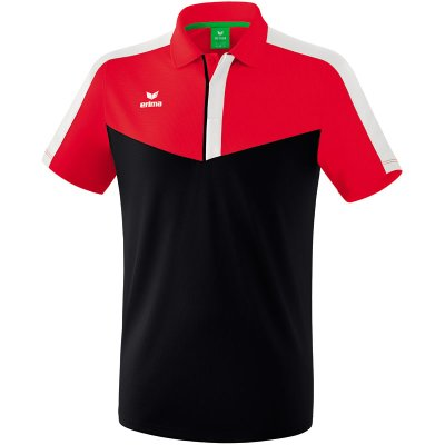Erima Squad Poloshirt - red/black/white - Gr. S (Farbe: rot 42 )