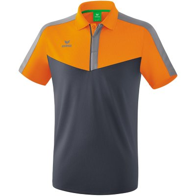 Erima Squad Poloshirt - new orange/slate grey/monument grey - Gr. S (Farbe: 38 orange )