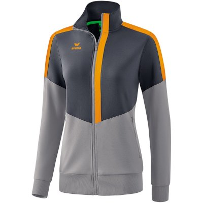 Erima Squad Worker Trainingsjacke - slate grey/monument grey/new orange - Gr. 42 (Farbe: weiß S )
