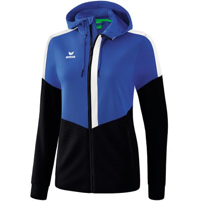 Erima Squad Trainingsjacke Mit Kapuze - new royal/black/white - Gr. 40 (Farbe: blau S )