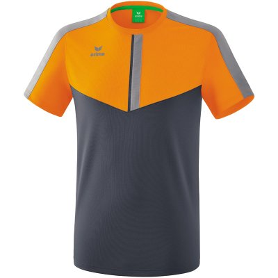 Erima Squad T-Shirt - new orange/slate grey/monument grey - Gr. XL (Farbe: 38 orange )