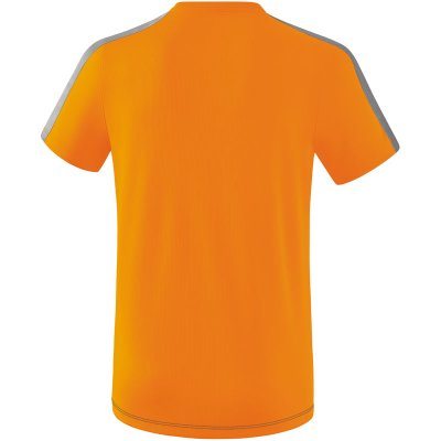 Erima Squad T-Shirt - new orange/slate grey/monument grey - Gr. XL