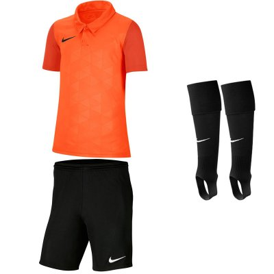 Nike Trophy IV Kinder Trikotsatz - safety orange - black - black - Gr. kurzarm | xl - xl - s (Farbe: schwarz grün )