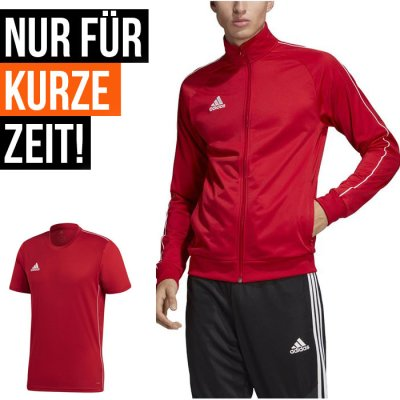 adidas Home-Office Set - power red/white - Gr. M (Farbe: rot  )