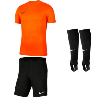 safety orange - black - black