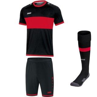 schwarz/sportrot - schwarz - schwarz