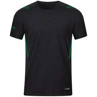 schwarz meliert/sportgrün