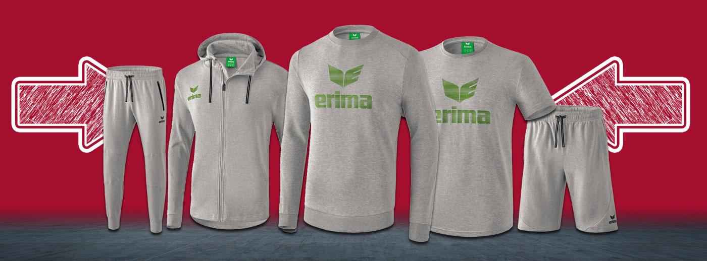 Verschenk mit den Erima Essentials schon jetzt den guten Sport Vorsatz für das Jahr 2019