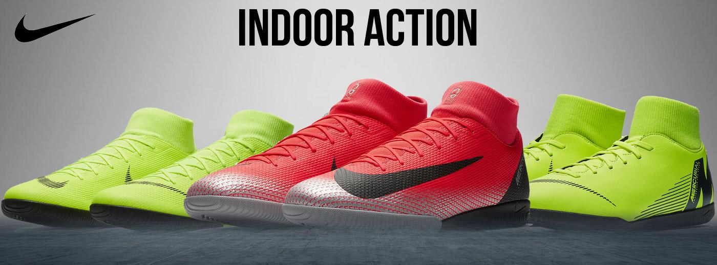 Nike Fußballschuhe und Hallenschuhe mit krassen Farben.