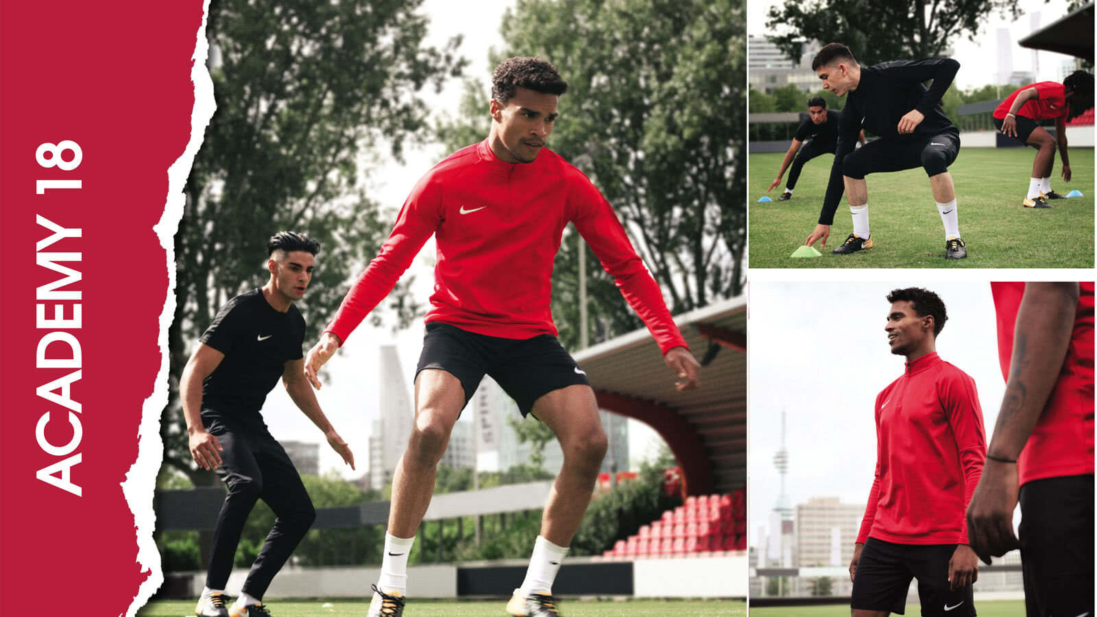 Nike Academy 18 Teamline vom Präsentationsanzug bis zum Training Top alle Sportartikel reduziert.