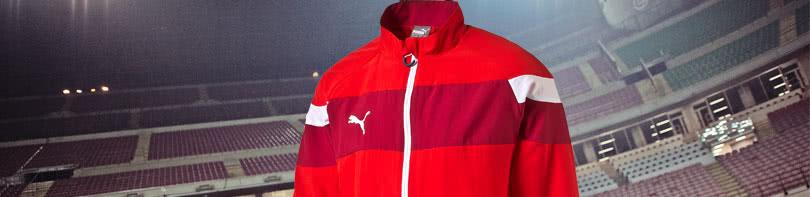 die Puma Spirit II Teamline mit 50% Rabatt auf Trainingsanzüge, T-Shirts und Polos